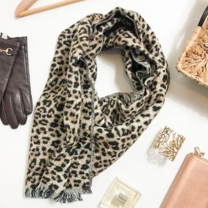 A New Day Leopard Animal Print Scarf Brown Black